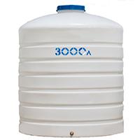 Вертикальный пластиковый бак 3000 литров