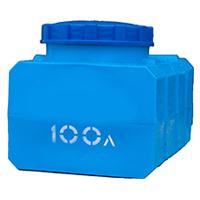 Прямоугольный пластиковый бак 100 л.
