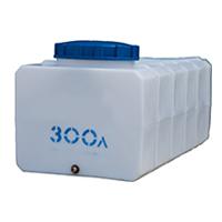 Прямоугольный пластиковый бак 300 л.